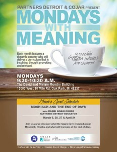 Mondays with Meaning - March and April