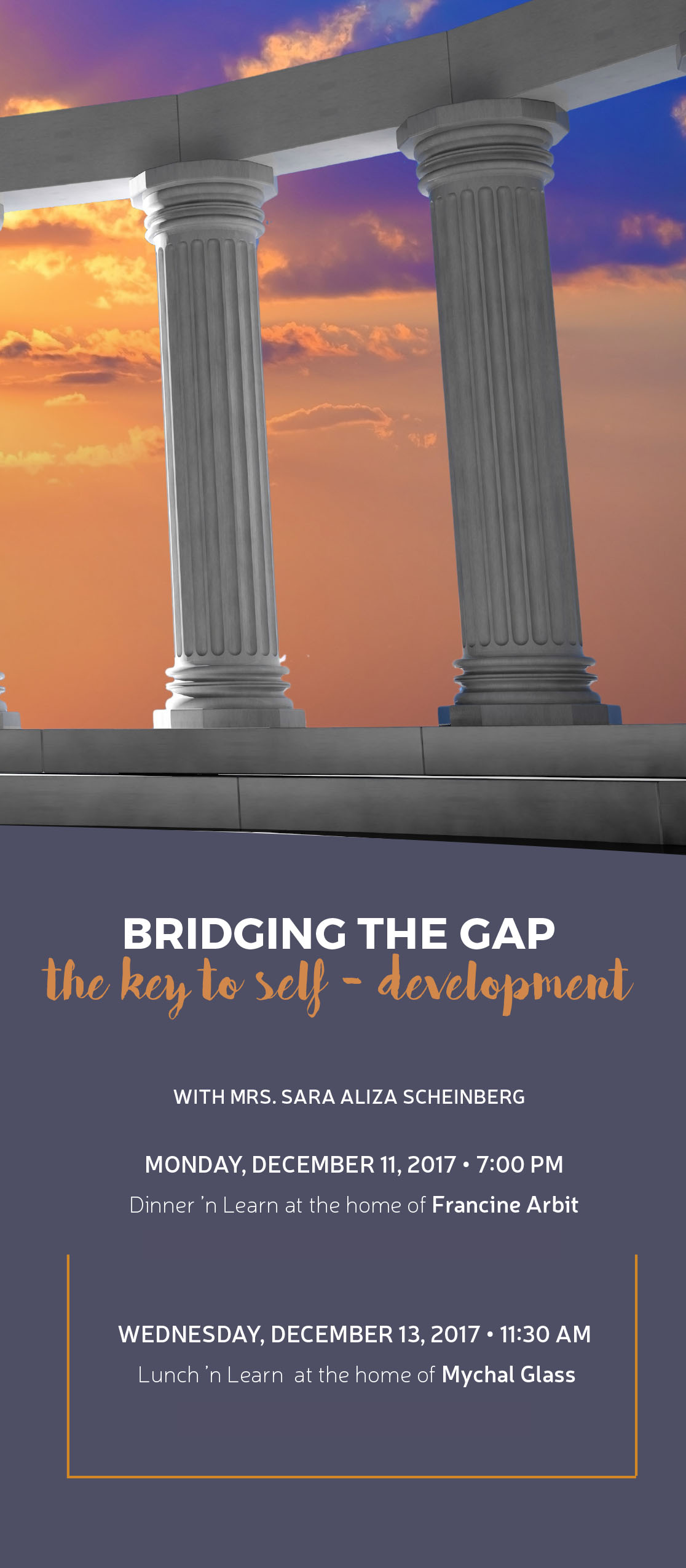 Pillars: Bridging the Gap - The Key to Self-Development Dinner 'n Learn