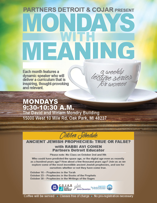 Mondays with Meaning - October