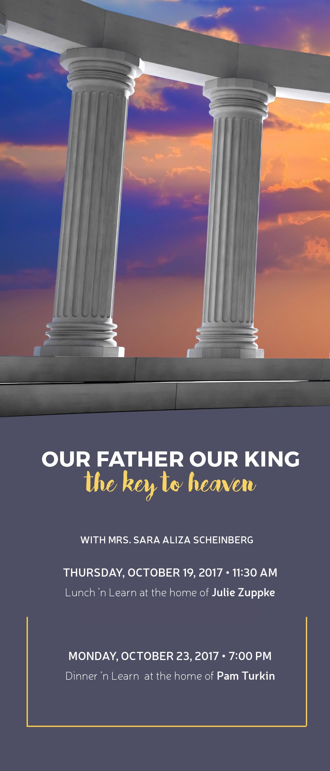 Pillars: Our Father Our King - The Key to Heaven Lunch 'n Learn