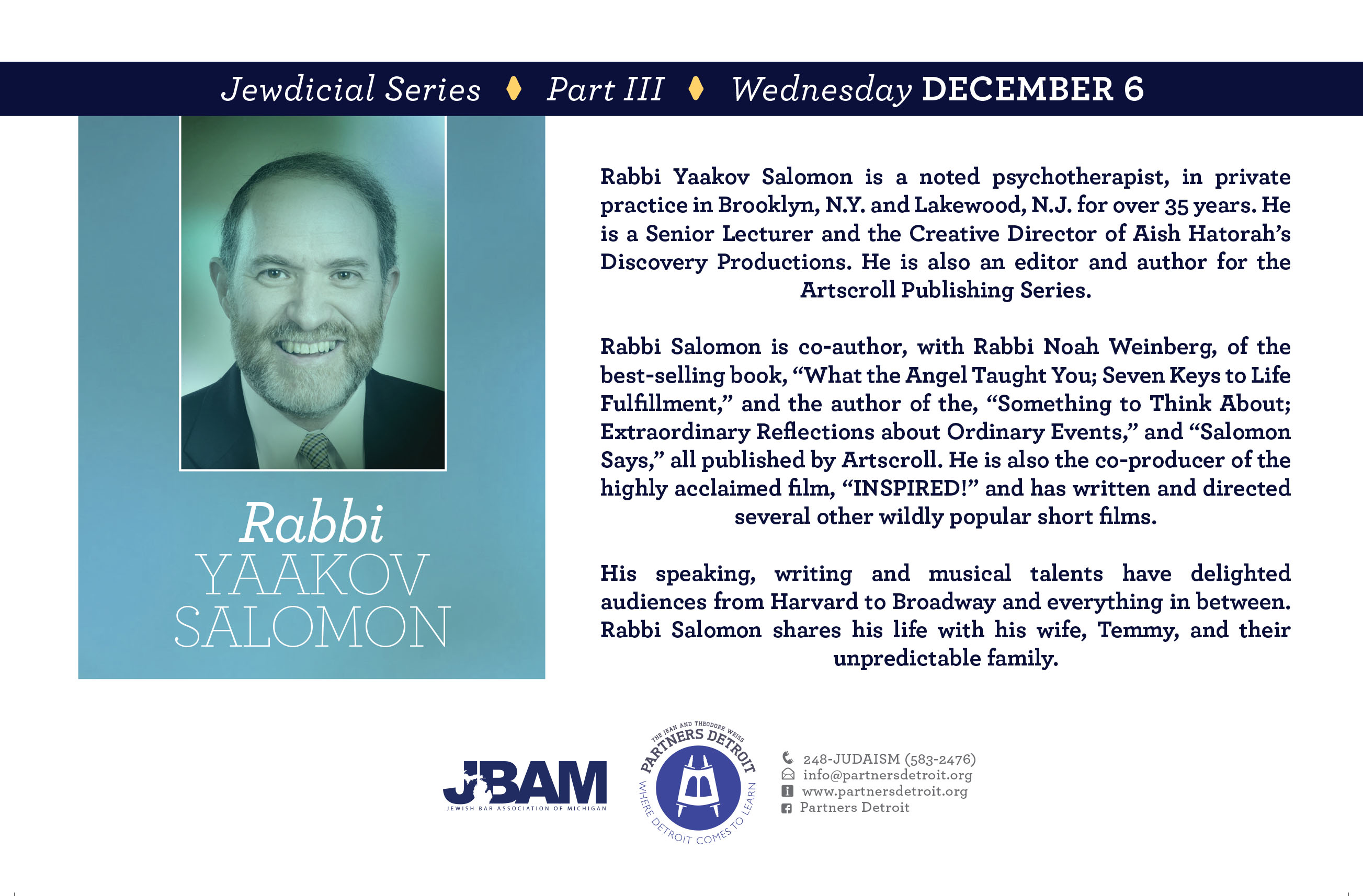 JEWdicial Series with Rabbi Yaakov Salomon