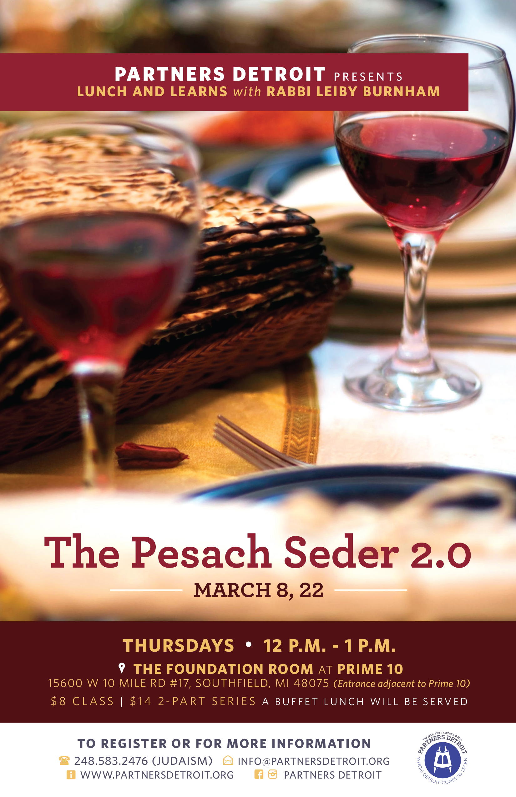 The Pesach Seder 2.0 Lunch 'n Learn