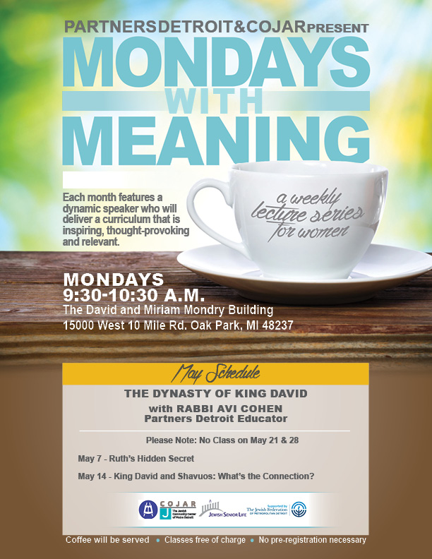 Mondays with Meaning - May