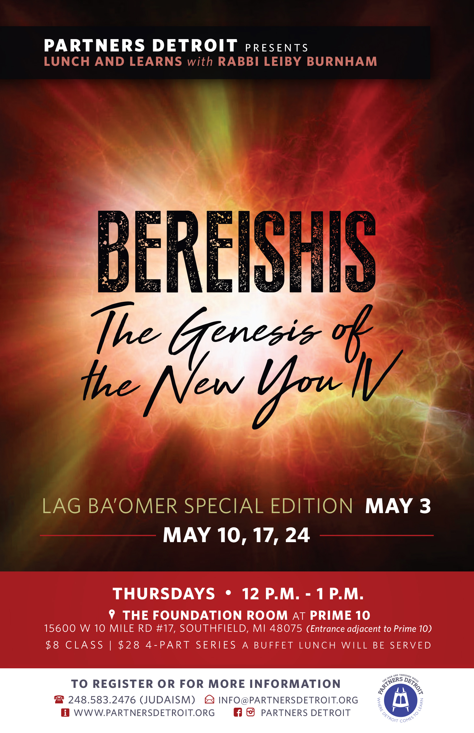 Bereishis: The Genesis of the New You IV Lunch 'n Learn