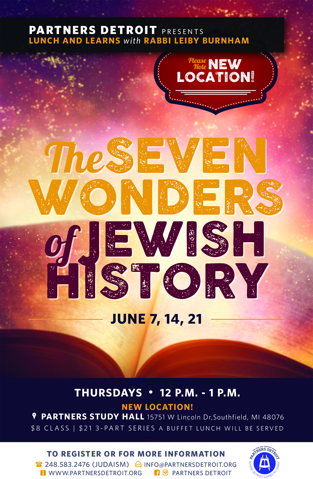 The Seven Wonders of Jewish History Lunch 'n Learn