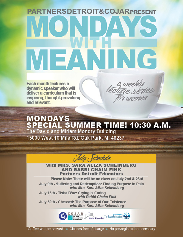 Mondays with Meaning - July