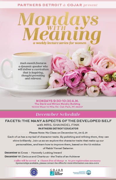 Mondays with Meaning - December