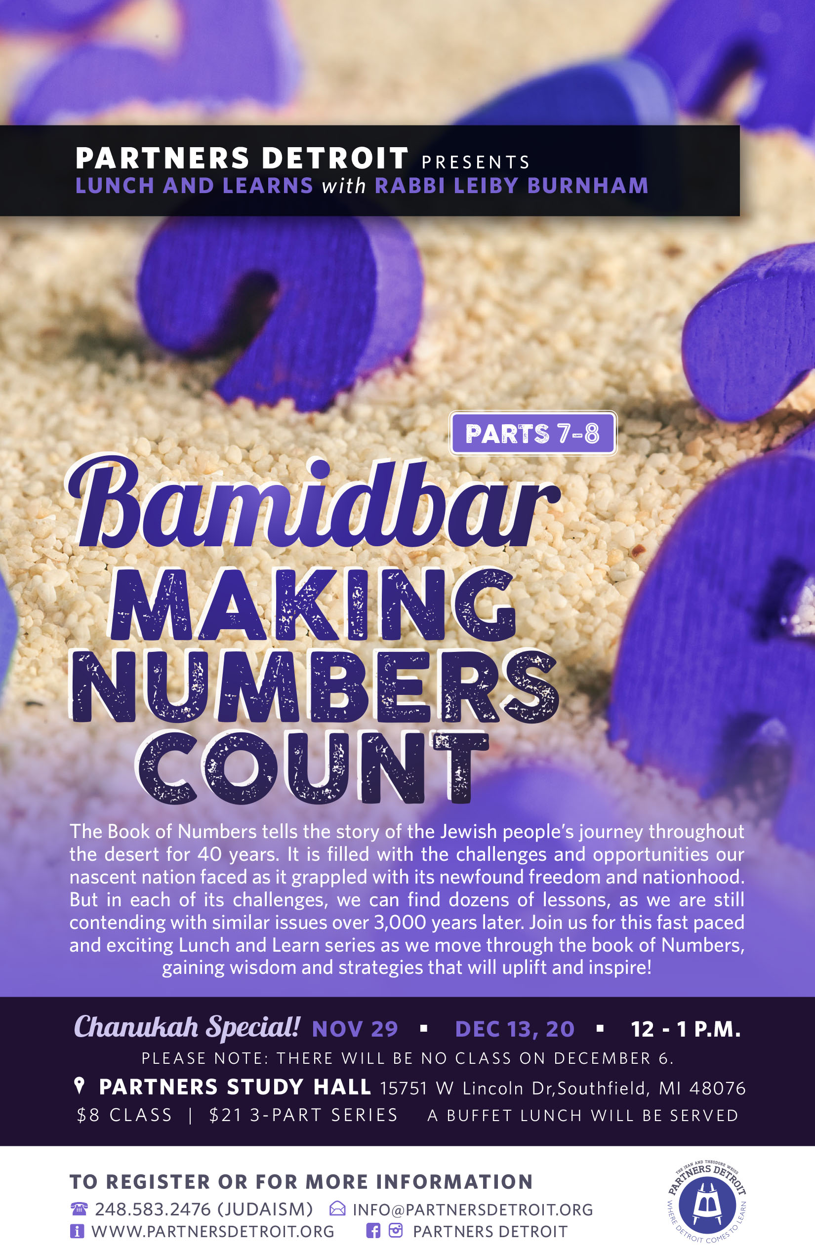 Bamidbar: Making Numbers Count Part VIII Lunch 'n Learn