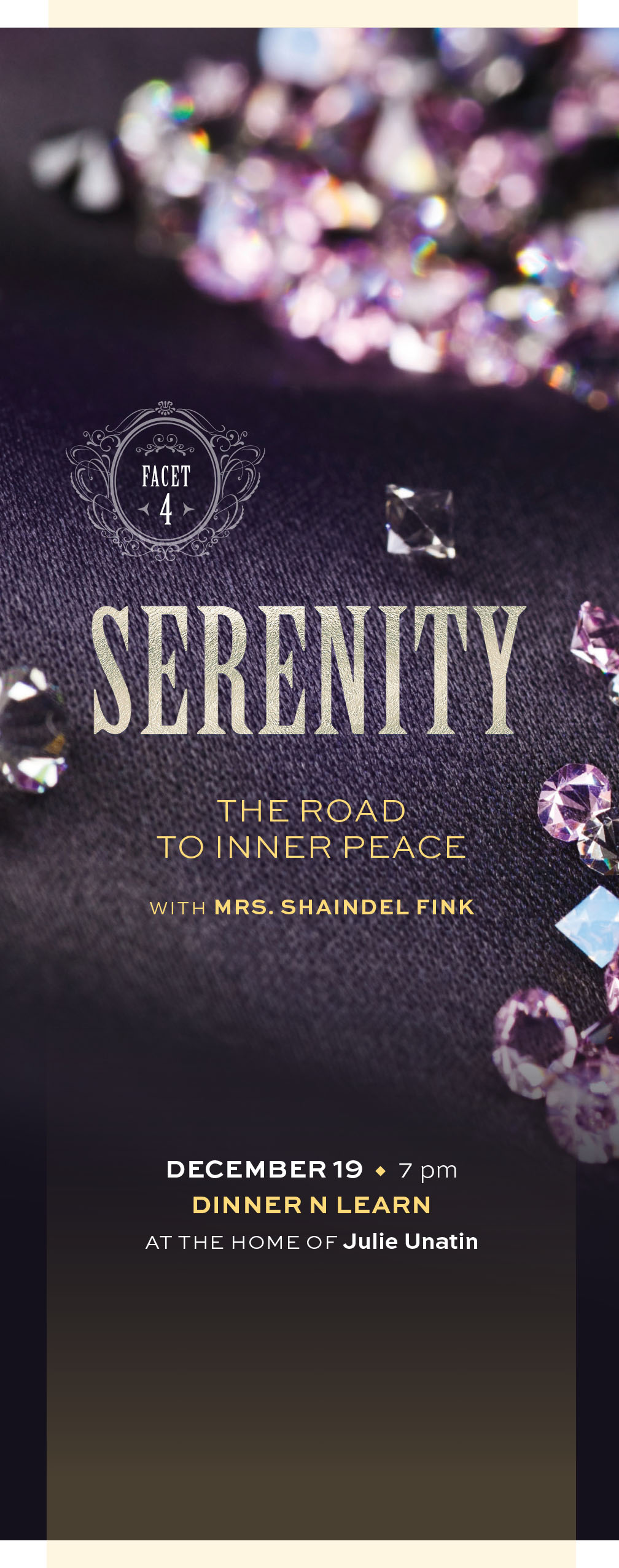 Facets - Serenity: The Road to Inner Peace Dinner 'n Learn
