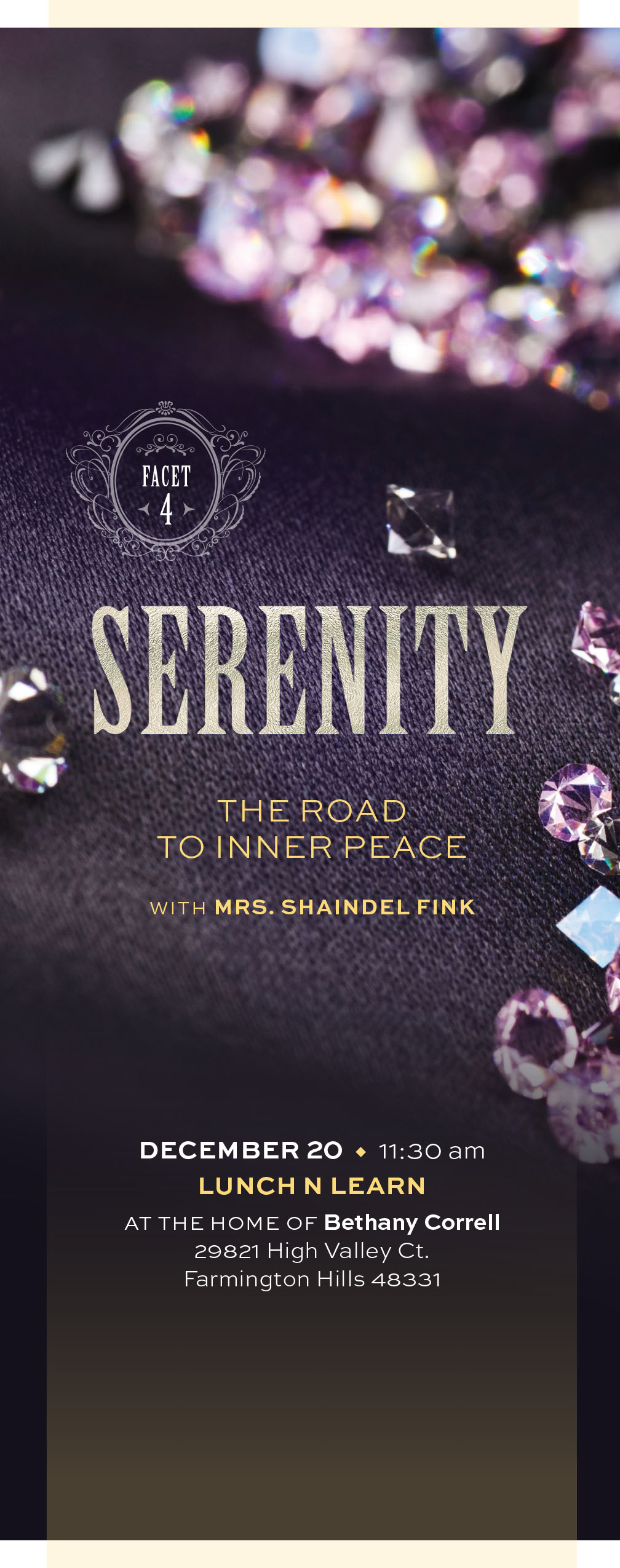 Facets - Serenity: The Road to Inner Peace Lunch 'n Learn