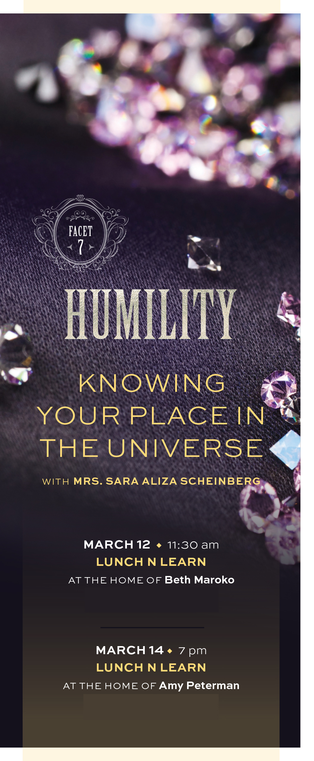 Facets - Humility: Knowing Your Place in the Universe Lunch 'n Learn