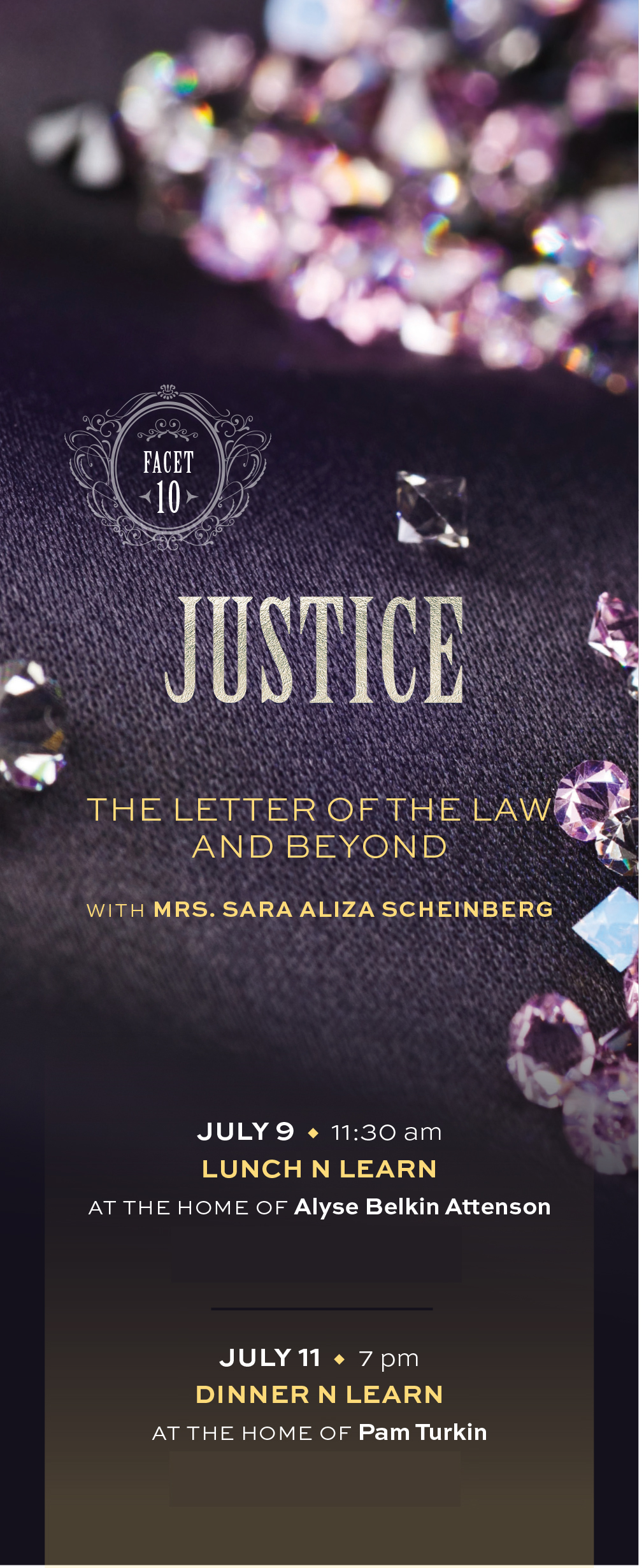 Facets - Justice: The Letter of the Law and Beyond Dinner 'n Learn