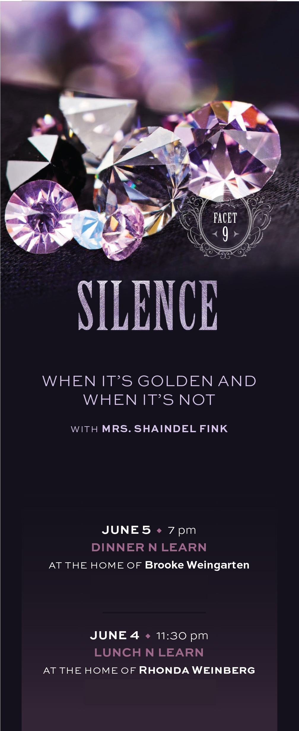 Facets - Silence: When It's Golden and When It's Not Lunch 'n Learn