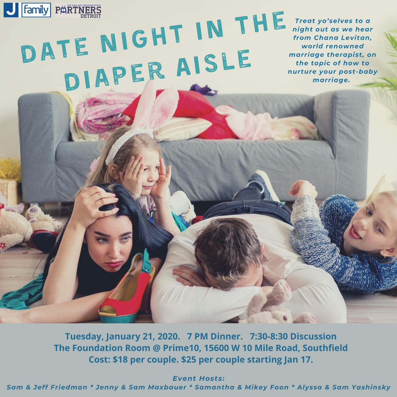 Date Night in the Diaper Aisle Dinner and Discussion with Mrs. Chana Levitan