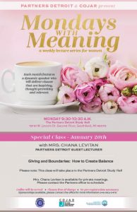 Mondays with Meaning with Chana Levitan