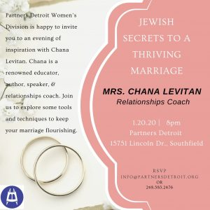 Jewish Secrets to a Thriving Marriage with Mrs. Chana Levitan