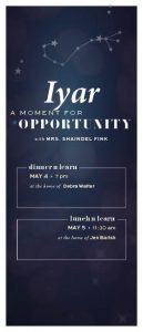Moments: Iyar - A Moment for Opportunity Dinner 'n Learn